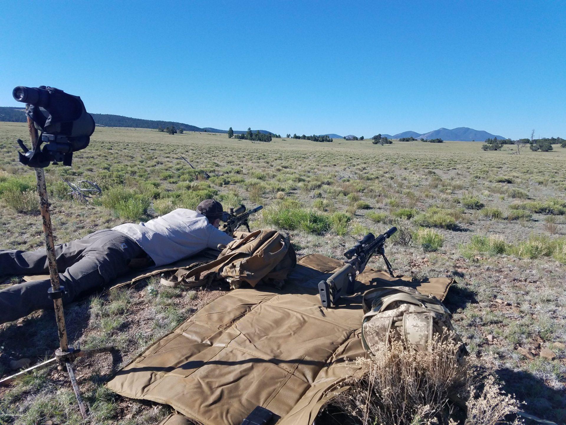 Longe range rifle shooting