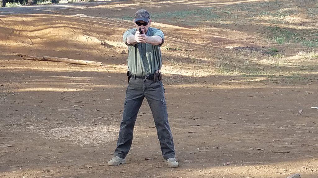 Isosciles pistol stance