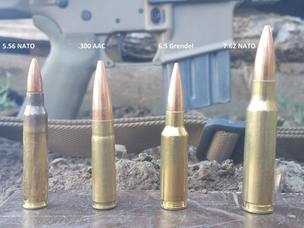 4 different AR type cartridges