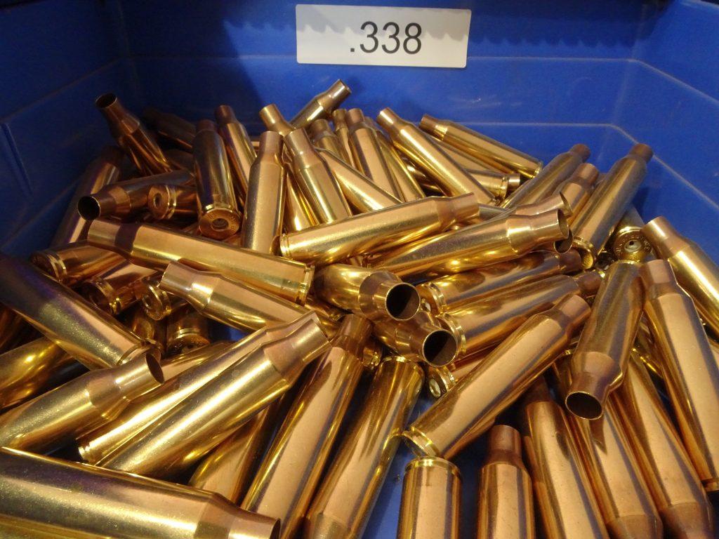 Reloading ammo, cleaned 338 brass