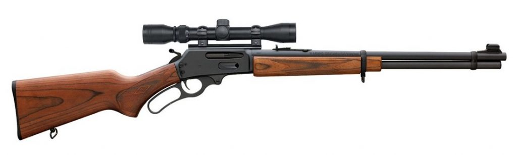 Lever action Rifle with second focal plane scope
