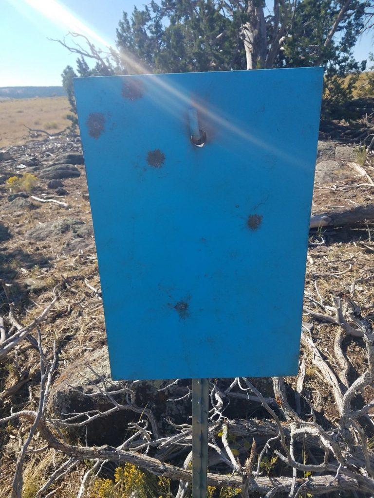 Steel target at 760 meters