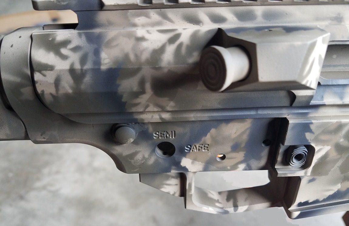 Camo Painting a gun