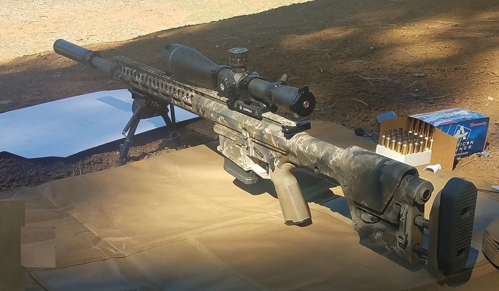 A camo painted AR ready for action
