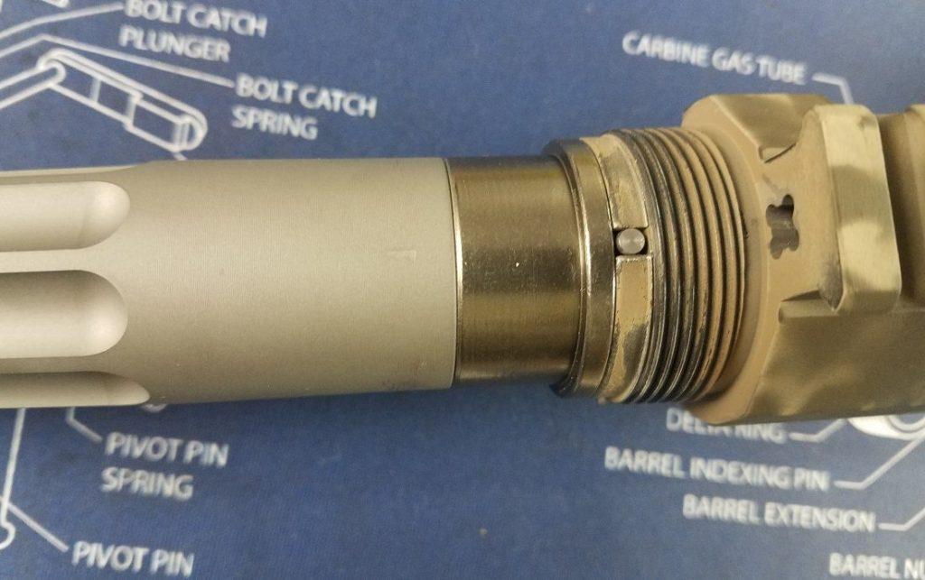 Ballistic Advantage barrel installed into the upper receiver