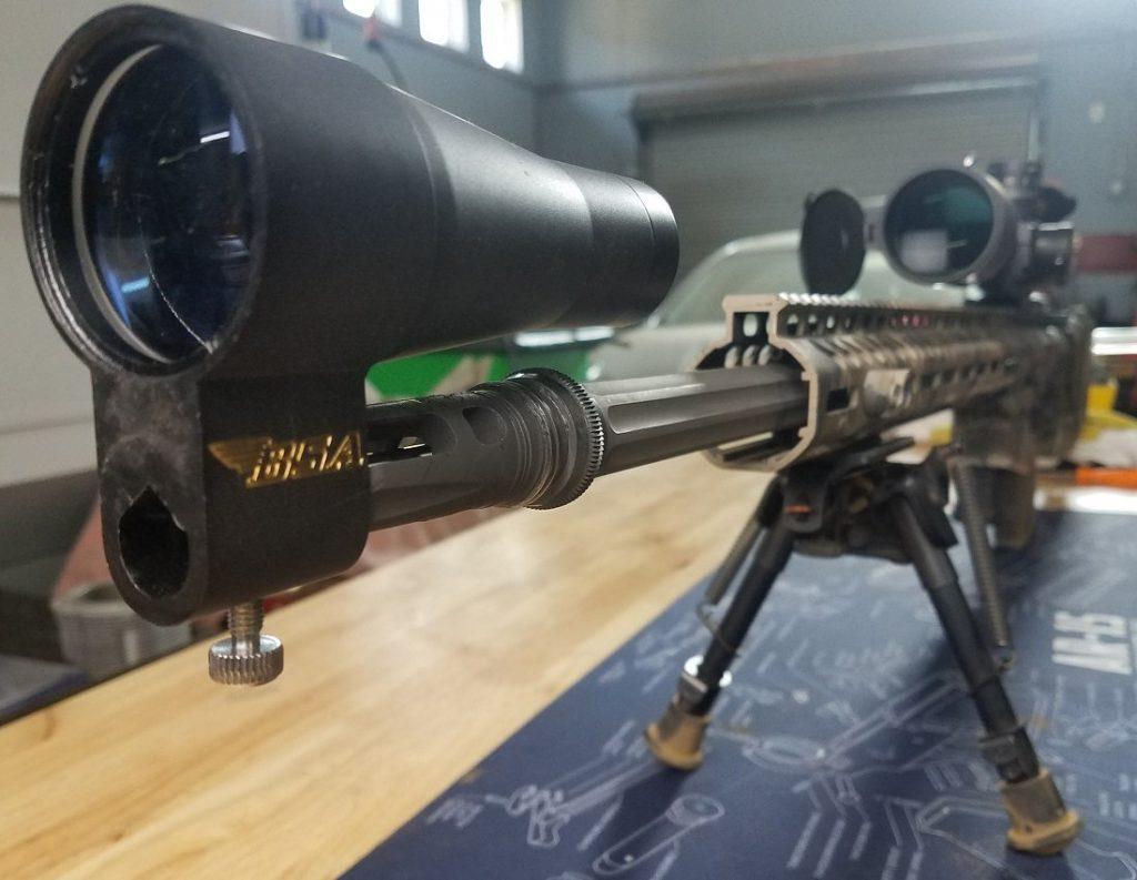 Using a bore sight to set up scope zero