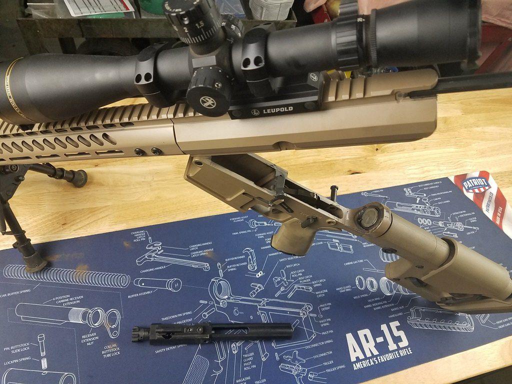 Install a new barrel, AR 10 broken open