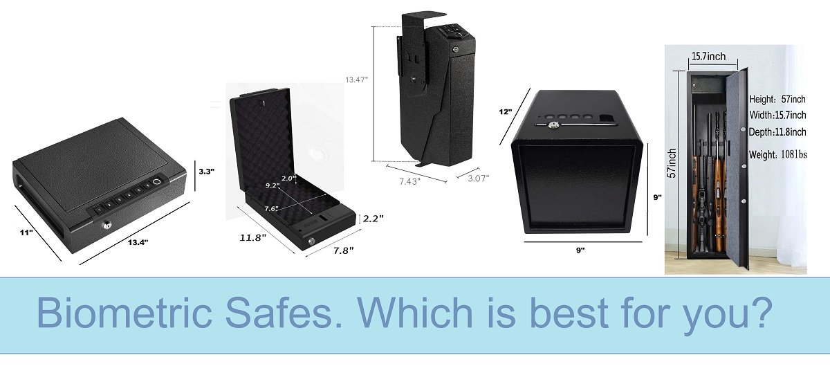 Biometric gun safes.