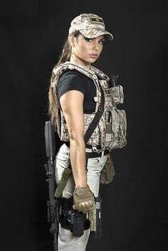Military styled gal