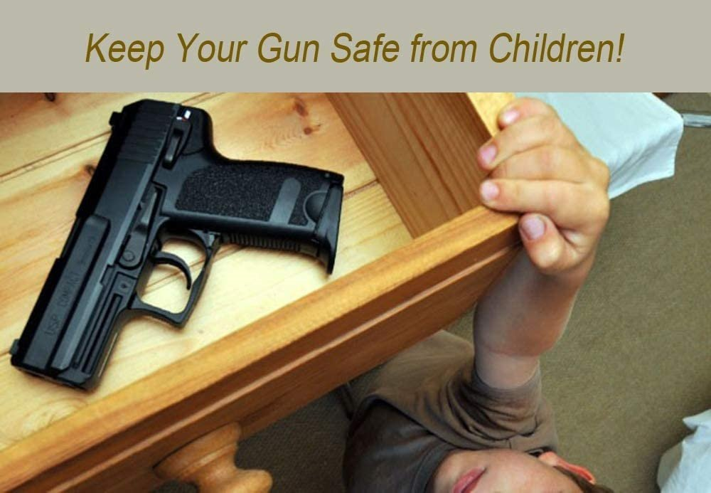 Keep your pistol safe from kids, teens or strangers in the house.