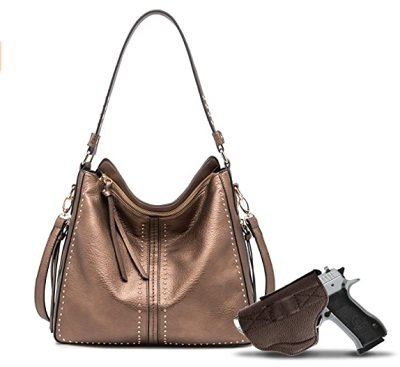 Large Concealed Carry Hobo Purse