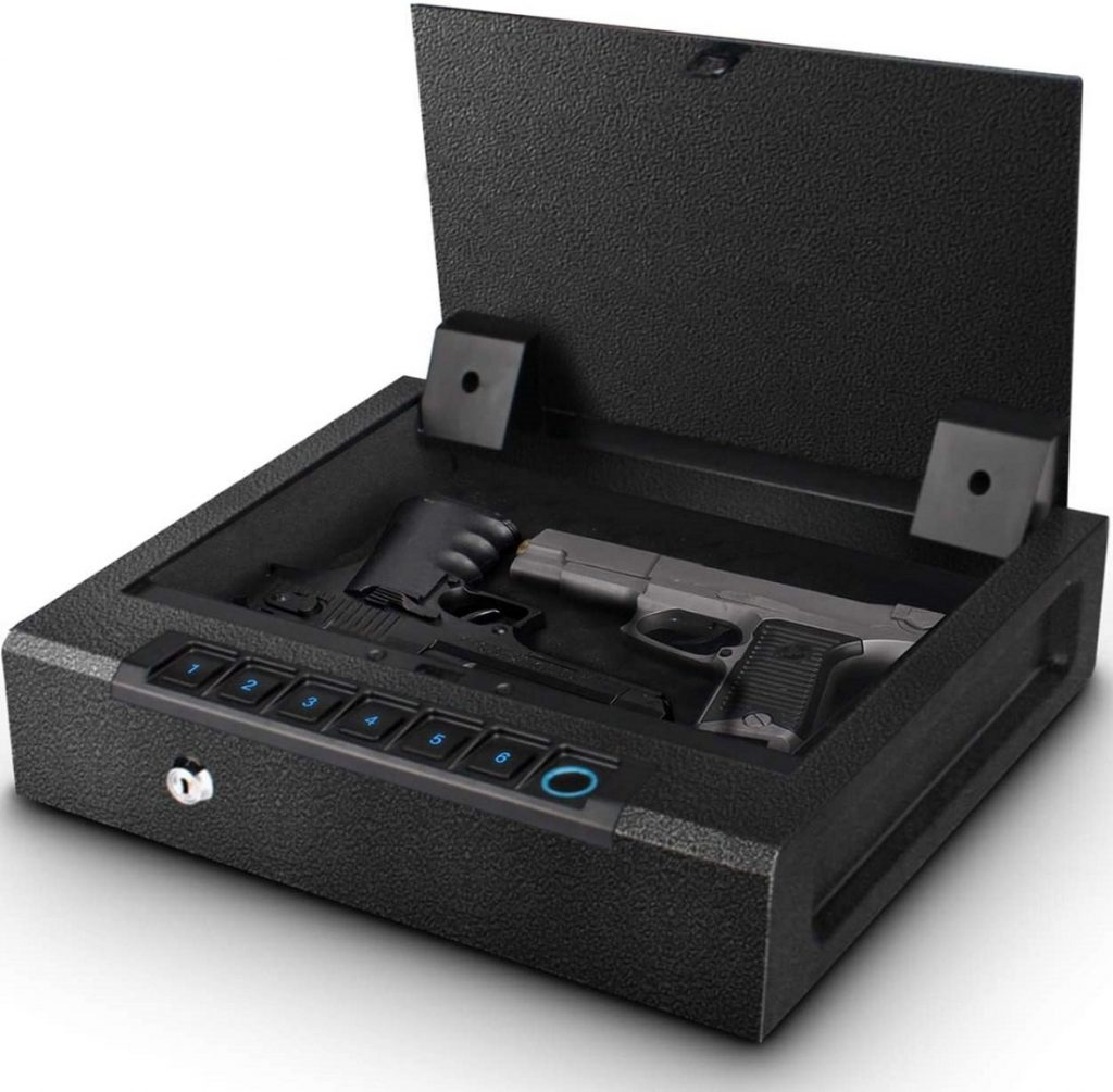 Biometric safe for a drawer