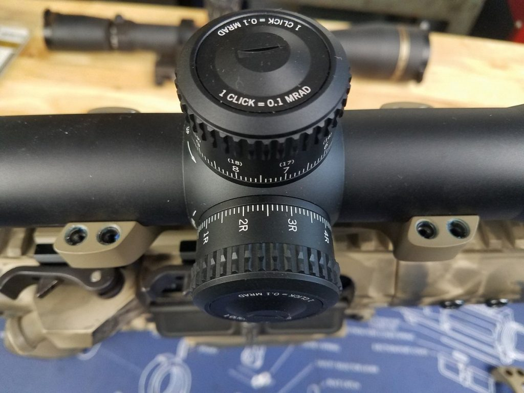 34 mm scope in a cantilever style mount