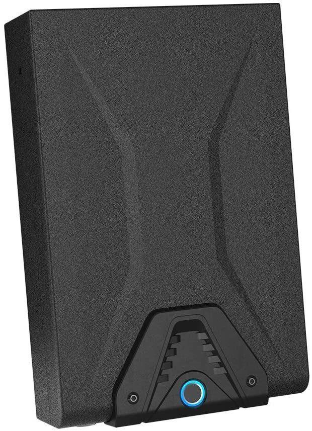 Biometric pistol safe for one gun when traveling