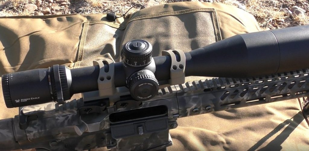 AR-10 with Scope mounted