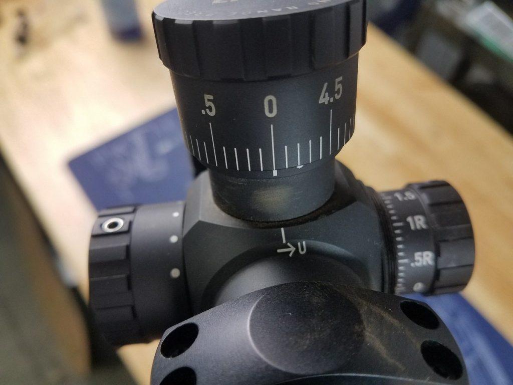 Zeroed elevation knob
