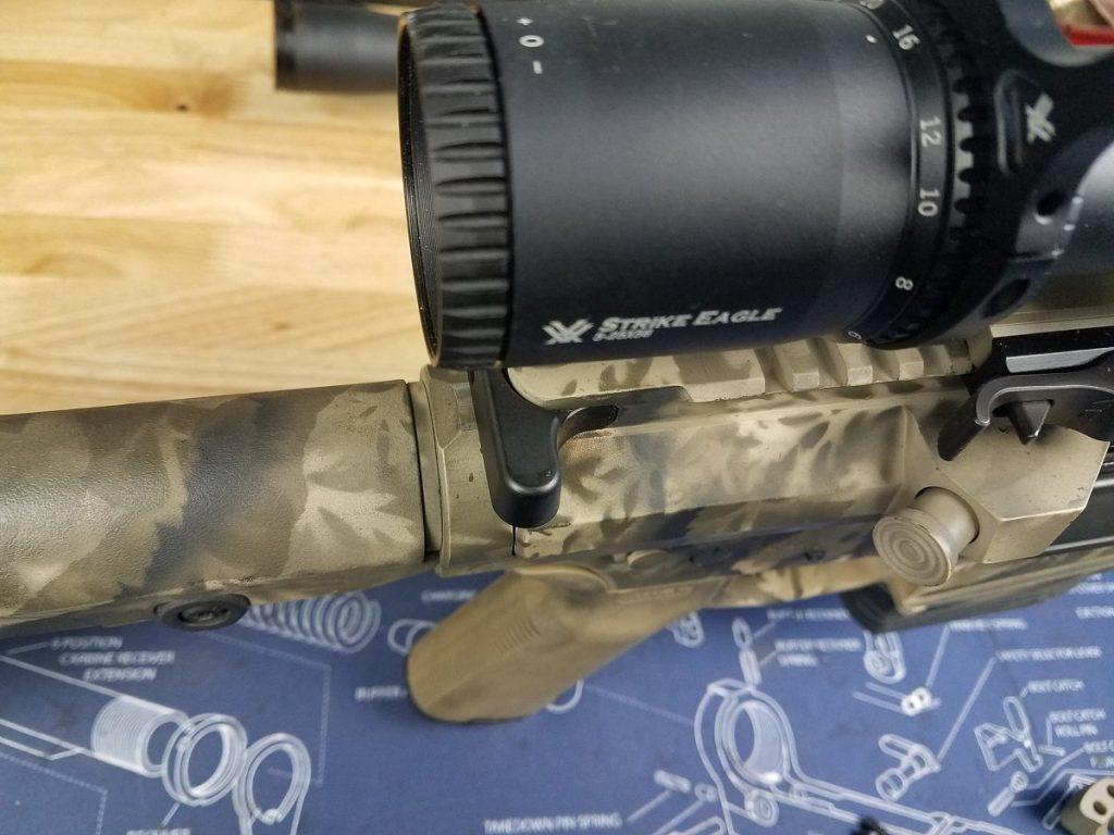 Setting the scope onto an AR15 or AR10 rifle