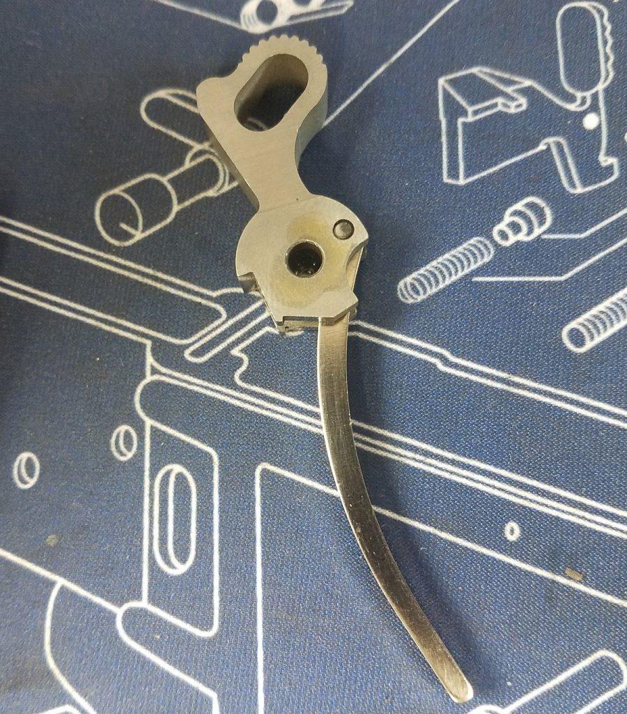 cleaning colt 1911 pistol, hammer installation