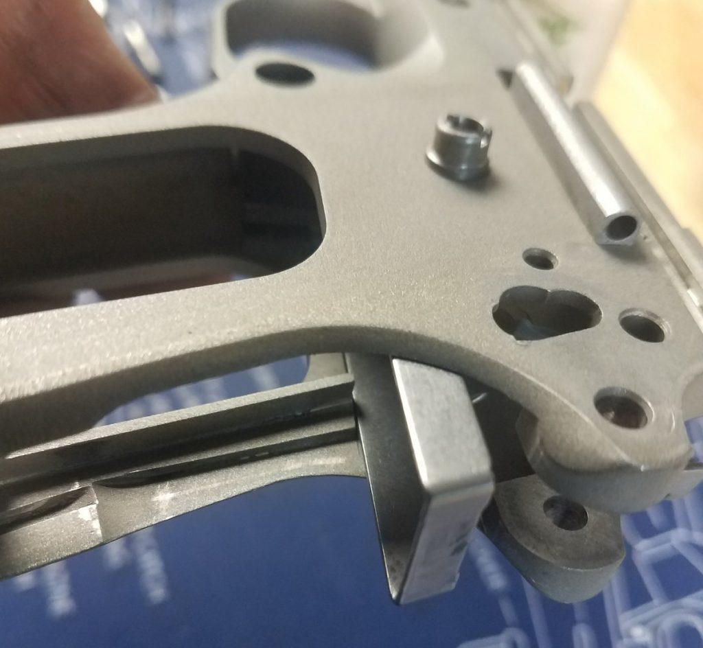 trigger installation on the Colt 1911 defender