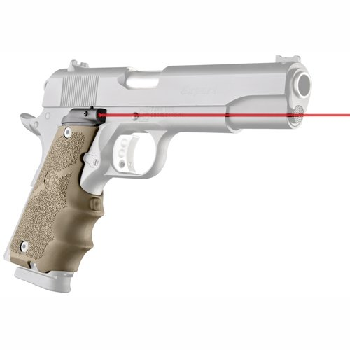 Hand grip with a laser