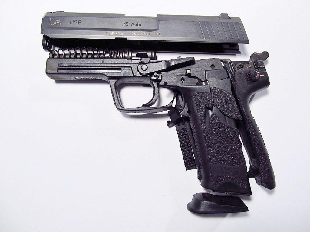 Damaged HK USP pistol
